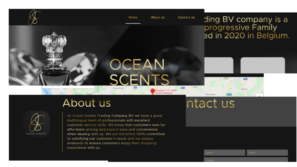 collage ocean scents
